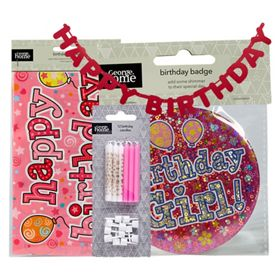 George Home Pink Party Decorations Bundle