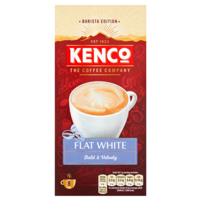 Kenco Flat White Instant Coffee Sachets Asda Groceries