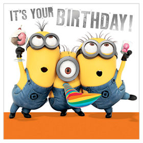 Greeting Card Minions Birthday