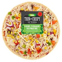 Asda Veggie Supreme Thin Crispy 10 Pizza Asda Groceries
