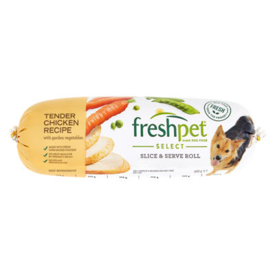 Freshpet Chubb Roll Chicken Recipe With Garden Vegetables Asda