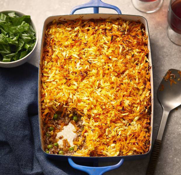 Root vegetable rosti-topped cottage pie