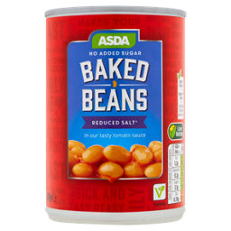Asda Reduced Sugar Salt Baked Beans In Tomato Sauce Asda Groceries