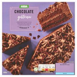 Asda Double Chocolate Gateau Serves 8 Asda Groceries