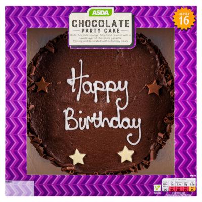 Asda Large Chocolate Birthday Cele Tion Cake