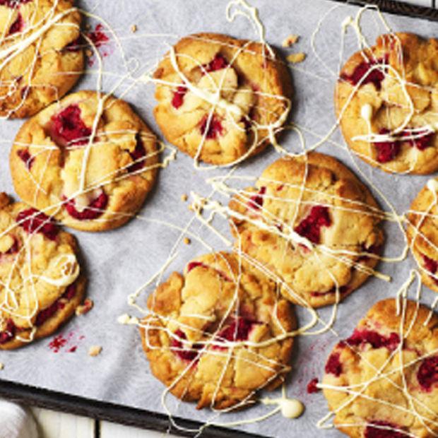 Carnation Raspberry White Choc Chunk Cookies