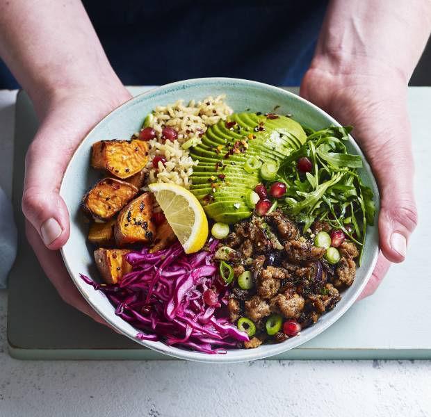 Vegetable-packed burrito bowl