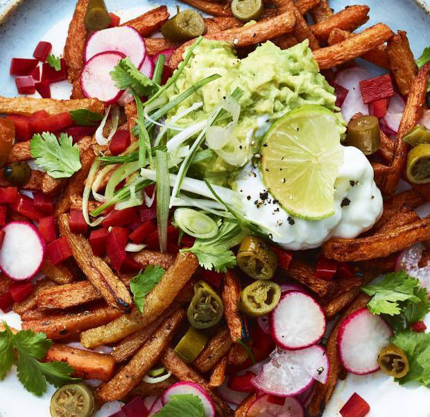 Cajun-spiced topped carrot 'fries'