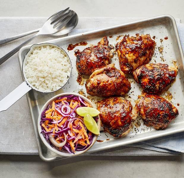 Hoisin-baked chicken with zesty slaw