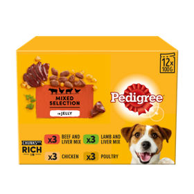 Pedigree Dog Pouches Mixed Selection in Jelly