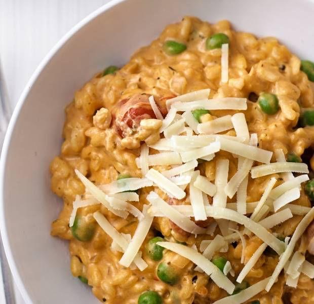 Tomato, onion & mascarpone risotto