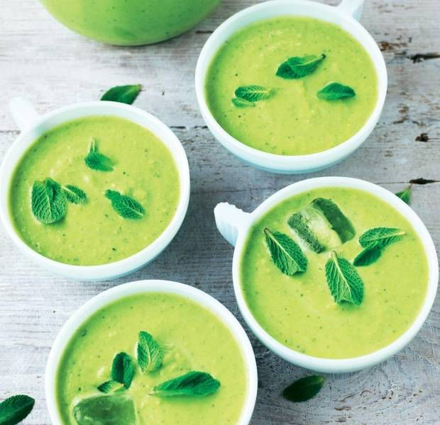 Pea & mint chilled soup