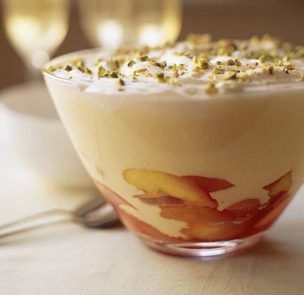 Nectarine & Marsala trifle
