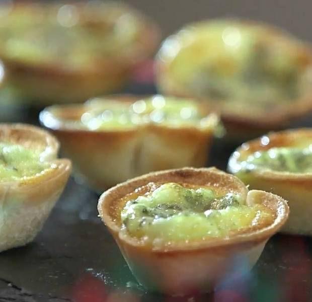 Caramelised onion & blue cheese mini tarts