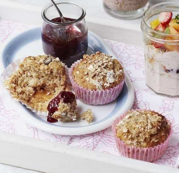 Sweet muesli muffins