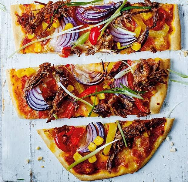 Fajita-spiced br?sket pizza