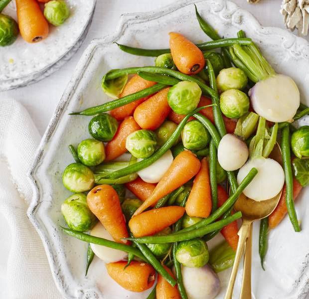 Easy Christmas vegetables