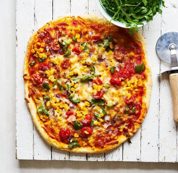 Colours of the rainbow pizza