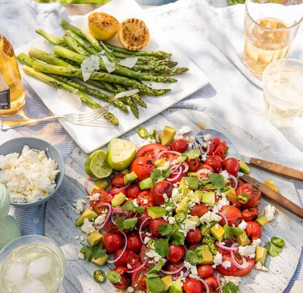Tangy tomato and avocado salad