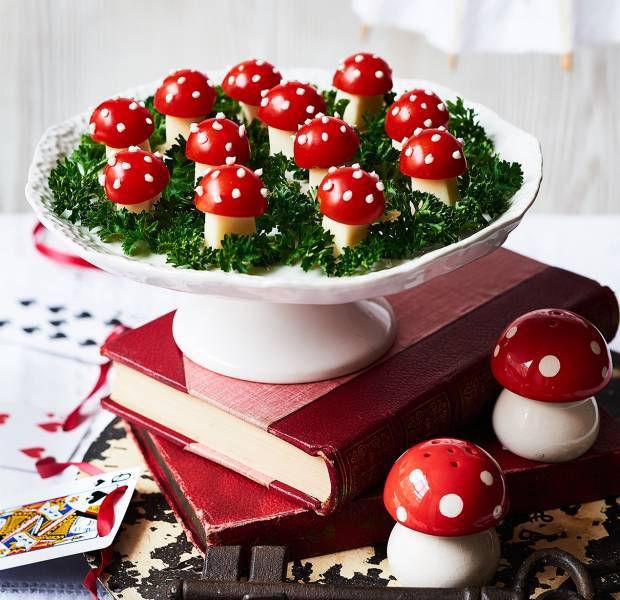 Cherry tomato toadstools