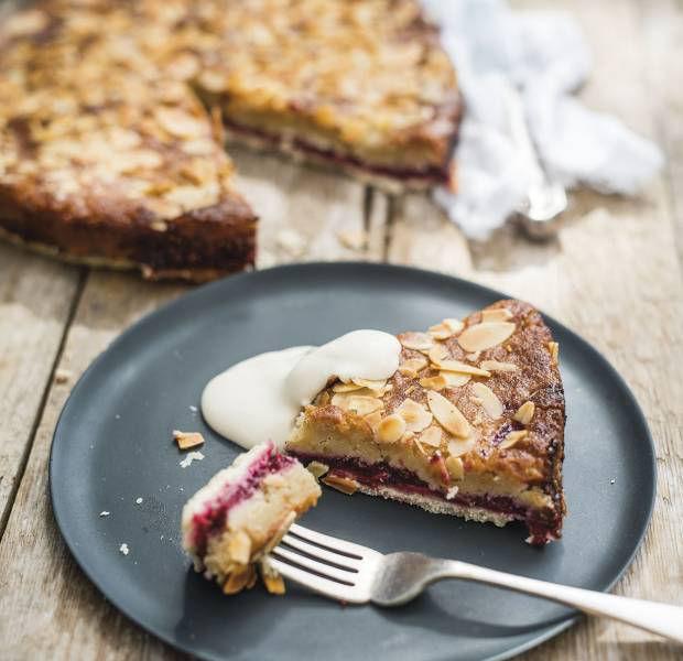 Vegan summer fruit Bakewell tart