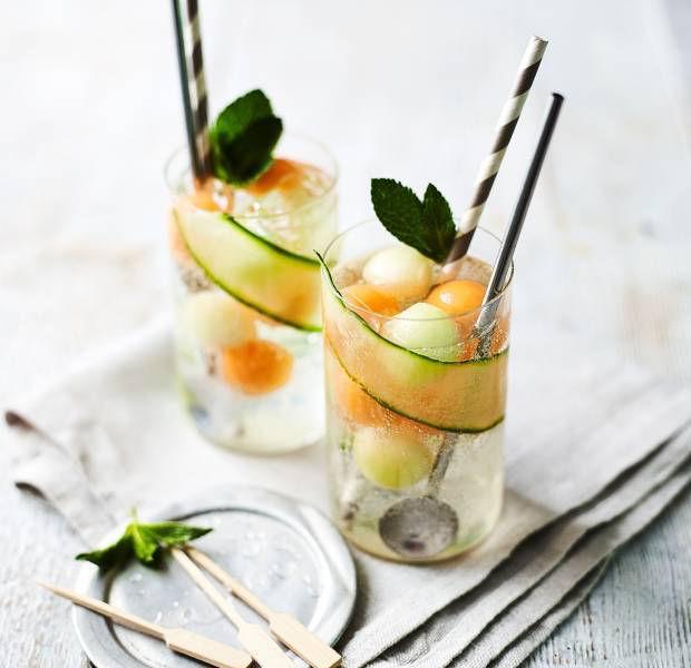 Melon, mint & cucumber cooler
