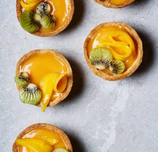 Blush grapefruit curd tarts