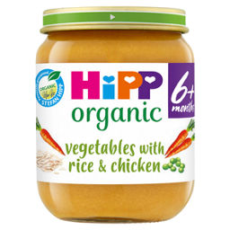 Hipp Organic Vegetables With Rice Chicken Baby Food Jar