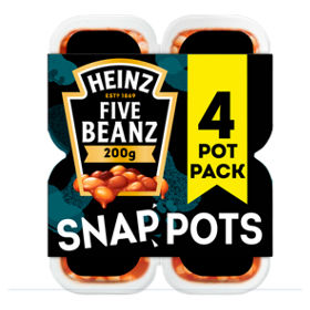 Five Beanz in Tomato Sauce Snap Pots