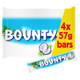 Bounty Coconut Milk Chocolate Twin Bars Multipack Asda