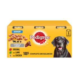 Pedigree Senior Dog Tins Meaty Selection In Loaf Asda Groceries
