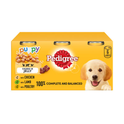 Pedigree Puppy Tins Mixed Selection In Jelly Asda Groceries