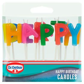 Dr Oetker Lettered Happy Birthday Candles