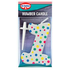 Dr Oetker Number 1 Candle