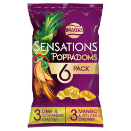 Walkers Sensations Poppadoms Variety Snacks Asda Groceries