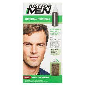 Just For Men Shampoo In Natural Medium Brown H 35 Haircolour Asda
