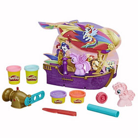 play doh my little pony the movie friendship ahoy pirate ship age 3