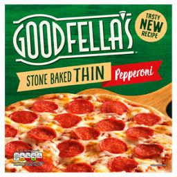 Goodfellas Stonebaked Thin Pepperoni Pizza Asda Groceries