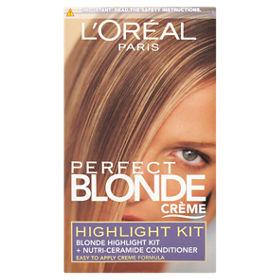 L Oreal Perfect Blonde Creme Permanent Hair Colour Highlight Kit