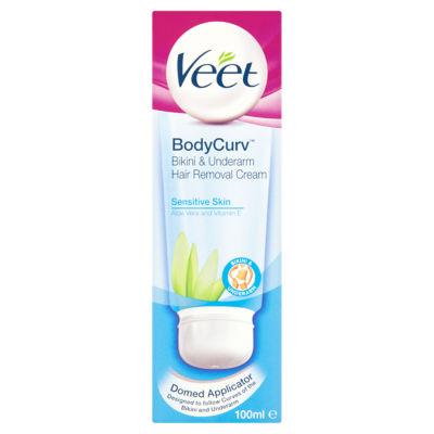 Veet Bodycurv Bikini Underarm Hair Removal Cream Asda Groceries
