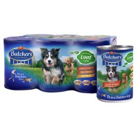 Butcher S Original Recipes All Meat Loaf In Jelly Dog Tins Asda