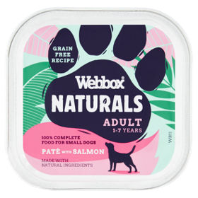 Webbox Premium Natural With Salmon Dog Food Tray Asda Groceries