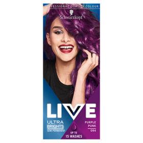 Schwarzkopf XXL Ultra Brights 94 Purple Punk Semi Permanent Hair ...
