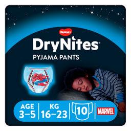 HUGGIES DRYNITES BOY 3-5 YEARS 10
