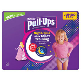 Pull Ups Night Time Potty Training Pants Girls 2-4 Years