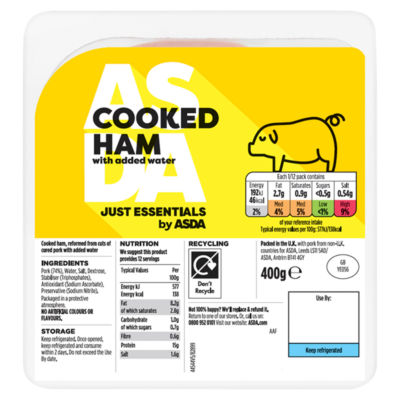 ASDA Smart Price Cooked Ham Slices ASDA Groceries
