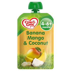 Cow Gate Banana Mango Coconut Fruit Pouch 4m Asda Groceries