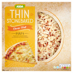 Asda Cheese Feast Thin Stonebaked 10 Pizza Asda Groceries