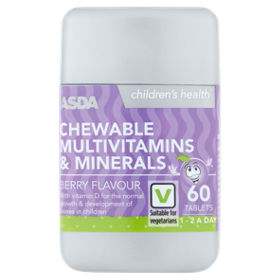 Children's Health Chewable MultiVitamins & Minerals Berry Flavour 1-2 A Day  Tablets