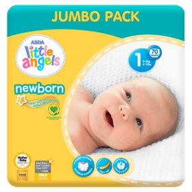821467efa Newborn Size 1 Nappies Jumbo Pack